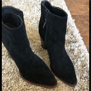 Sam Edelman black suede boots.